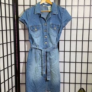 Dresses & Skirts - Faded Glory Denim Button Down Dress Size 11/12